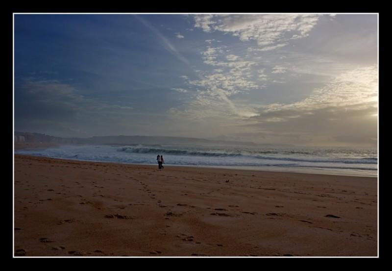 Sunset shot at Nazaré Beach