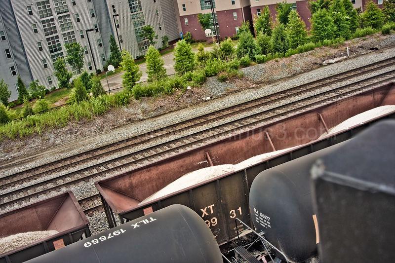 Westside housing along railroad tracks