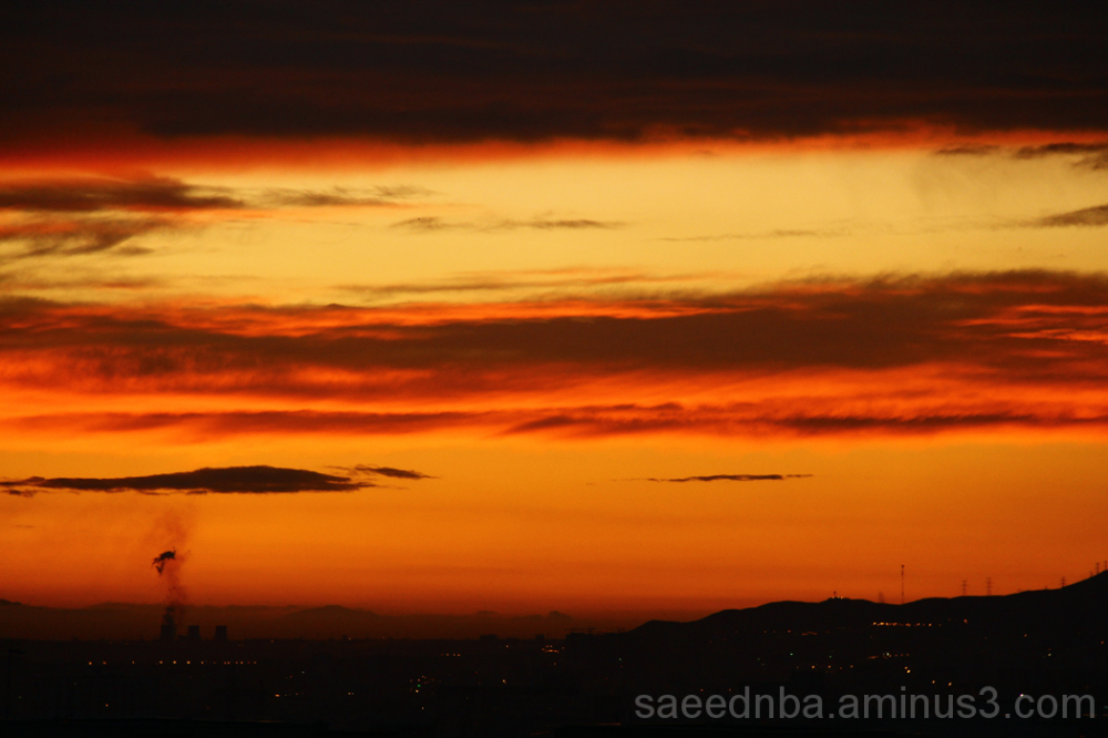 Orange Sunset . . .