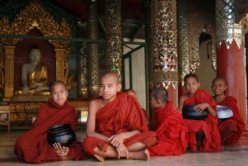 Little monks. Myanmar