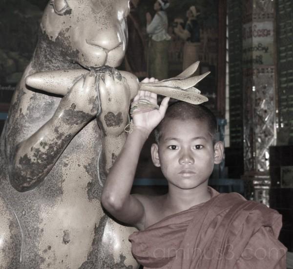 Little monk. Myanmar