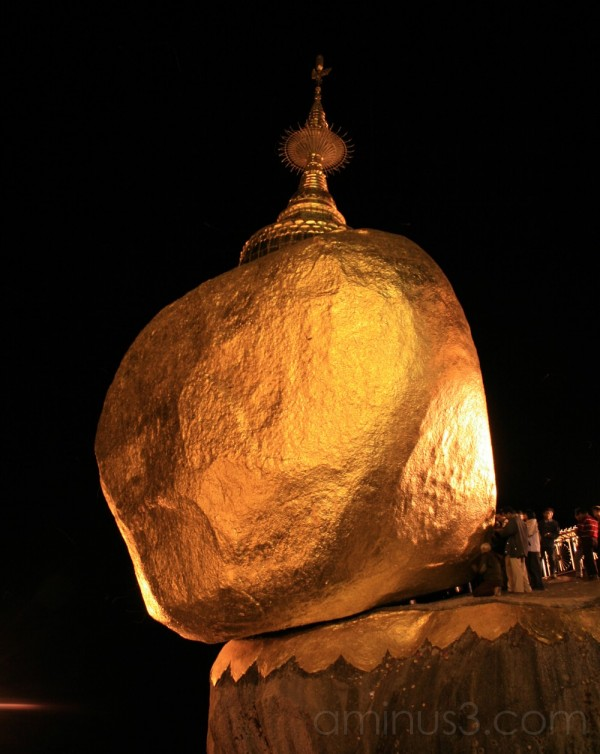 Golden Rock or Chaitkho. Myanmar