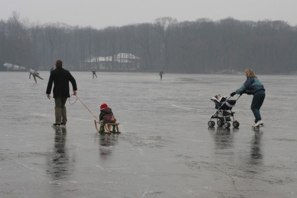 Ice skating people