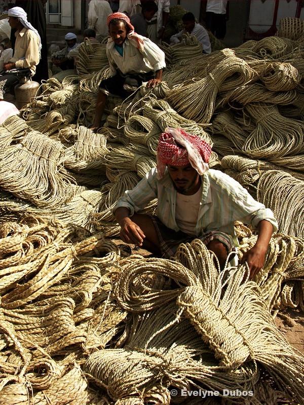 Marchand de cordes Yémen du nord