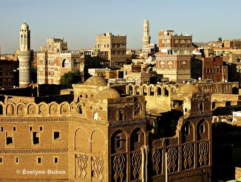 vue de Sanaa capitale du Yemen