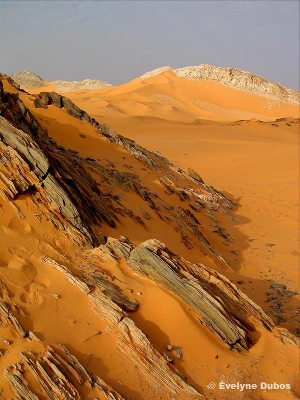 Désert : entre roches et sable (Niger)