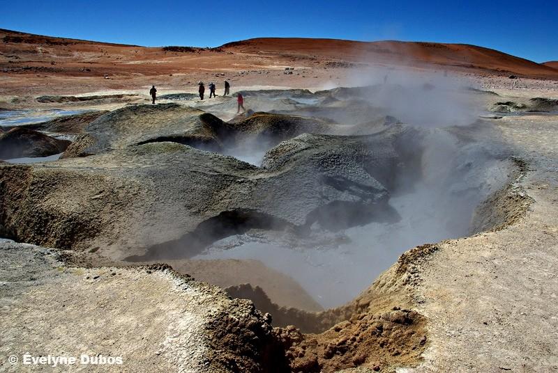 Geysers Sol de Manana (1), à 5000 mètres (Bolivia)