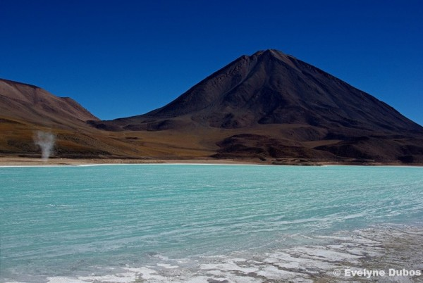 Baby twister on Laguna Verde (Bolivia).