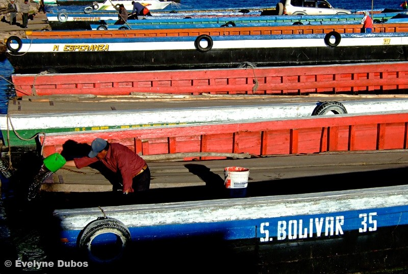 Bolivian Ferry-Titicaca lake-