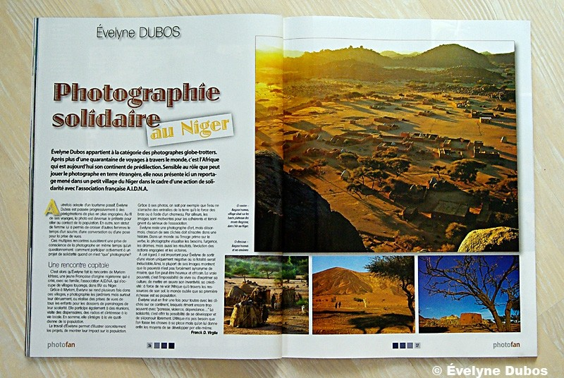 Publication in the french magazine PHOTOFAN