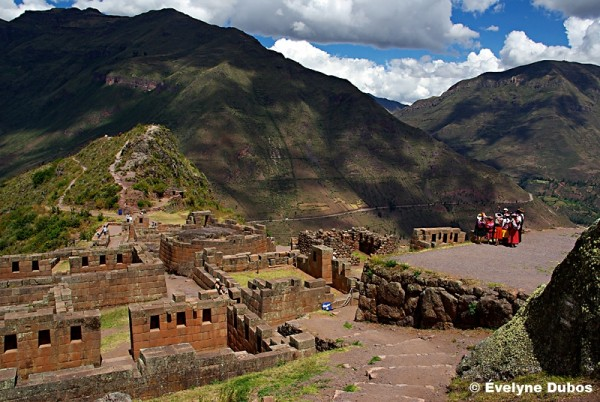 Inca's ruins of Pisac  - Peru -