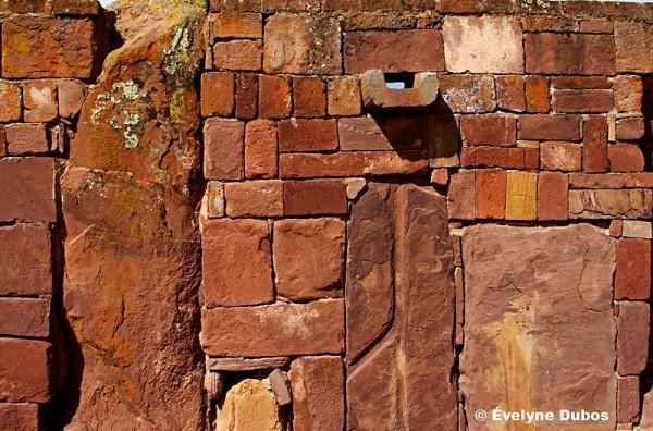 Tiwanaku ruins -details of wall-  (Bolivia)