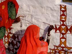 Mural paintings (Thar desert-India)