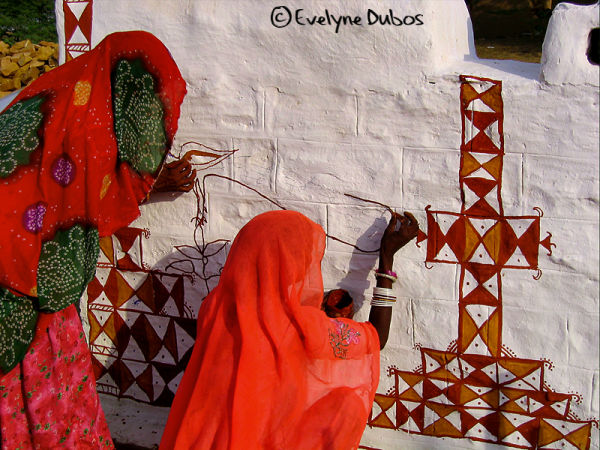 Mural paintings (Thar desert-India)