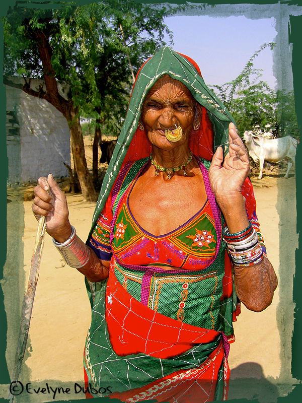 Old granny. (Vishnoi tribe-India)