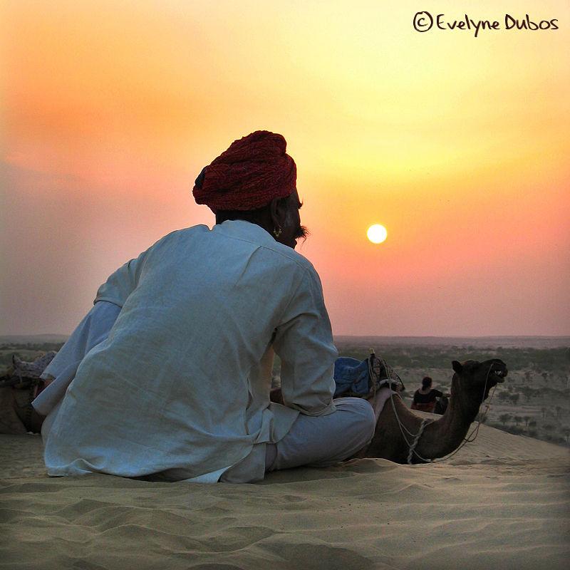 Contemplation. (Thar desert-India)