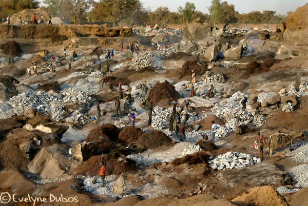 The stone open quarry - (Burkina Faso)