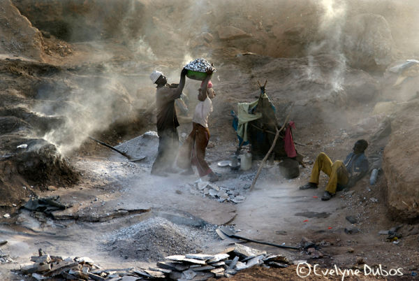The stone open quarry -2- (Burkina Faso)
