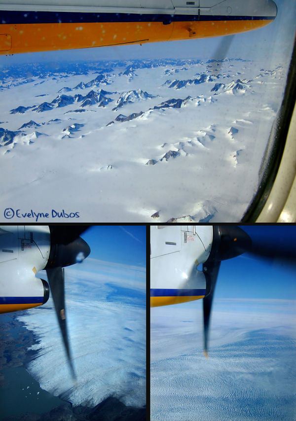 Flight above Greenland