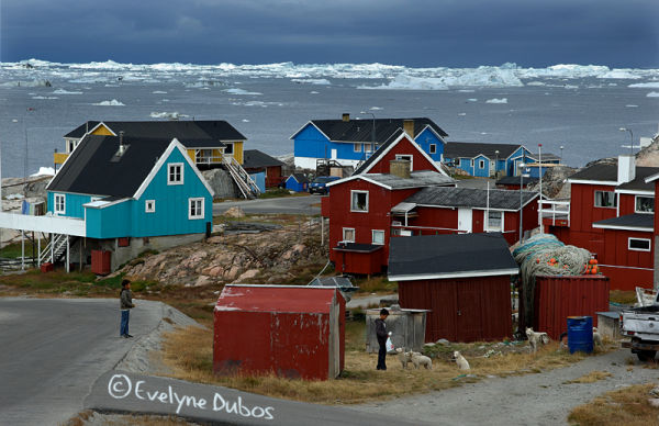 Illulissat city   - west coast of Greenland -