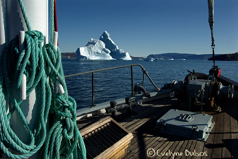 Ready for cruise right in the middle of icebergs ?