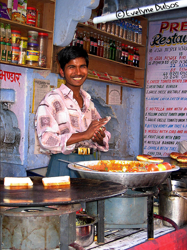 Indian burgers salesman.