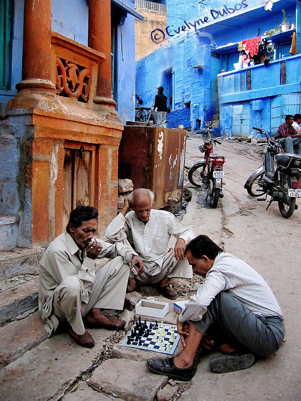 Chess street playeurs. (Jodpur, India)