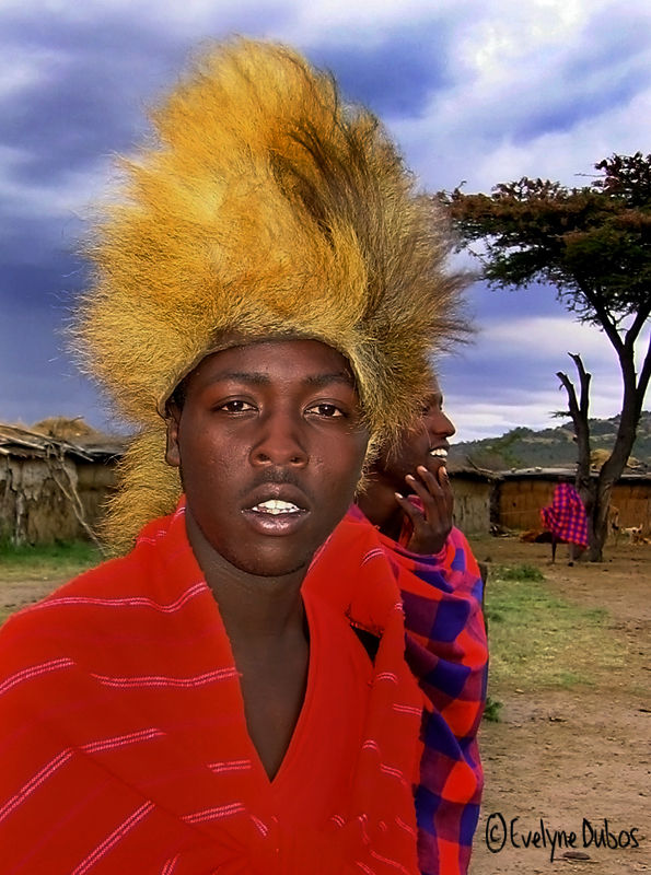 L'homme-lion. (Tribu Masaï - Kenya)