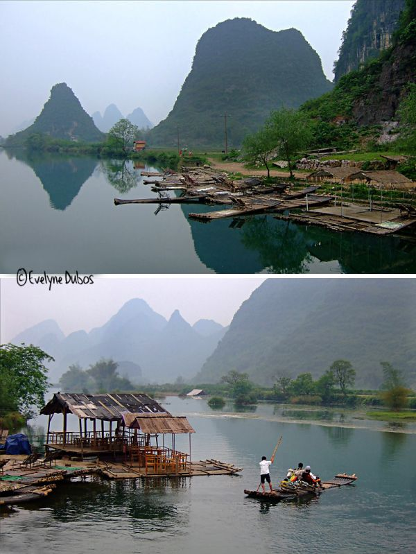 Sur la rivière Li. (Chine)