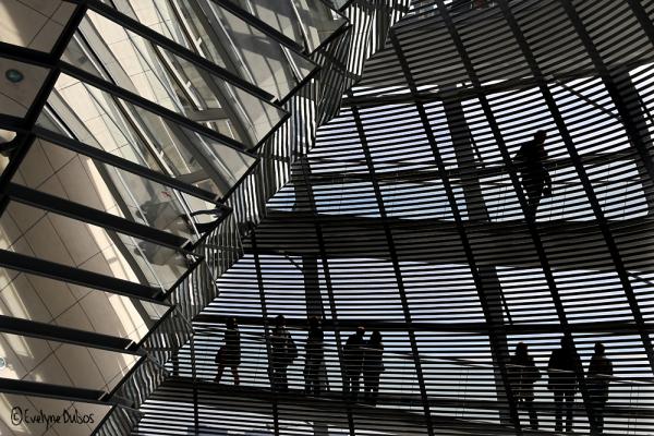 Le dome de verre du Reichstag.