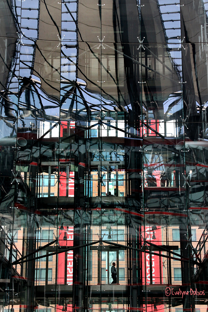 Sony Center reflections.
