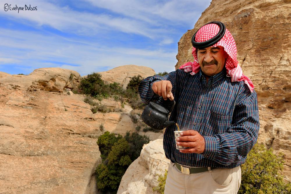 Un thé au Wadi Rum.