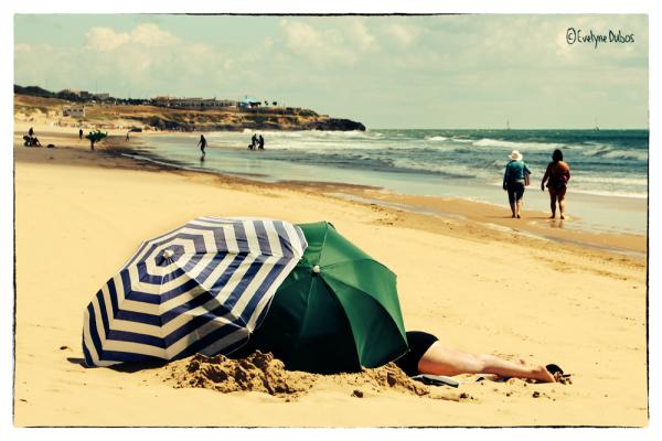 A la plage.