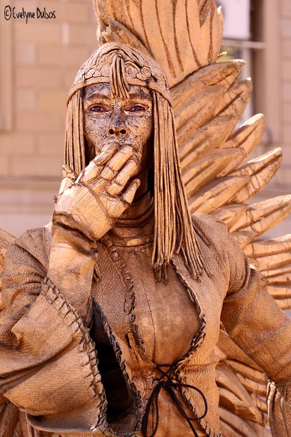 Les statues vivantes de la Rambla. (1)