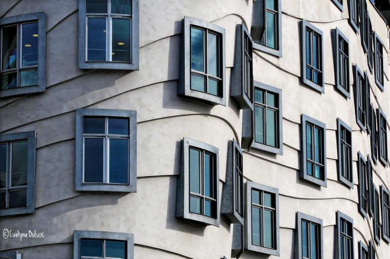 Prague : the dancing windows.