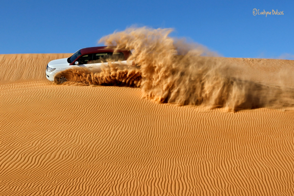 Sand bashing.