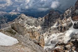 Dolomites : Tofana di Forcella Staunies