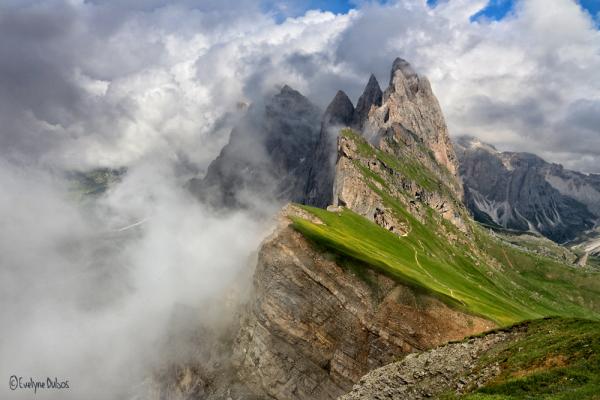 Dolomites : entre soleil & nuages.