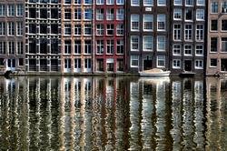 Façades d'Amsterdam.