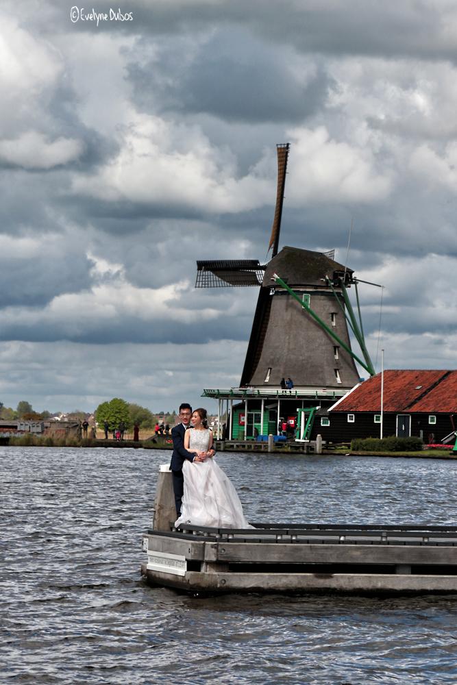 Mariage à Zaans Schans.