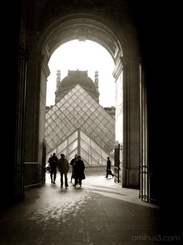 The Louvre museum in paris france.