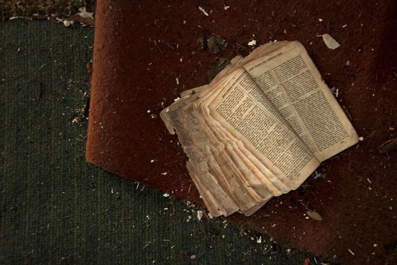 Book in an Abandoned House