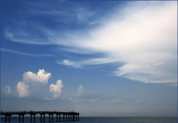 Clouds & Pier