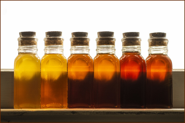 Honey Bottles on Window Sill