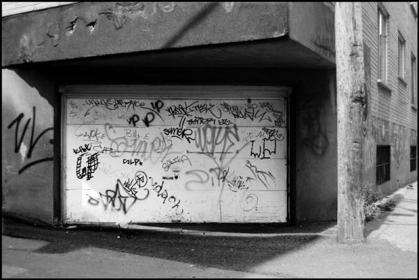 graffiti in an alleyway