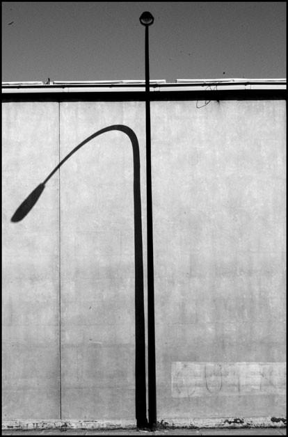 shadow of a streetlight