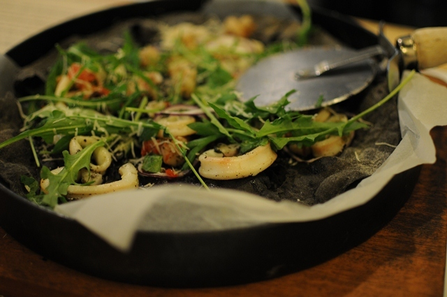 Squid Ink Pizza