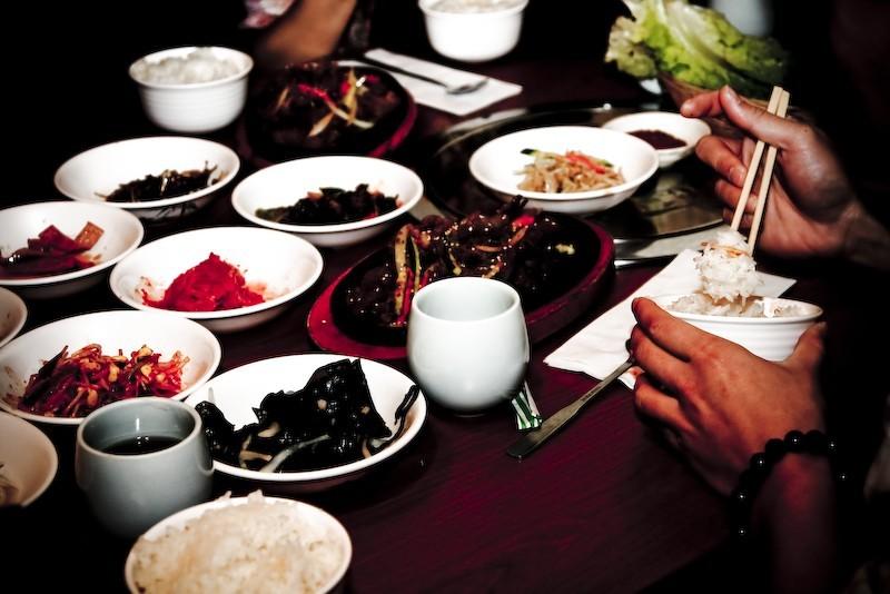 bulgolgi and koreand side dishes