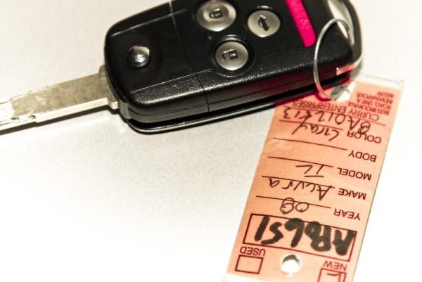 loaner car and key