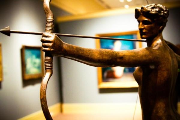 arrow and sculpture